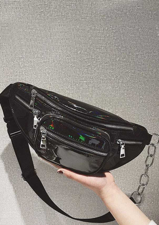 PU Chain Holographic Fanny Pack