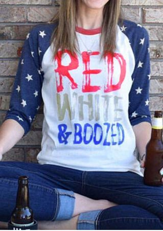 Red White & Boozed Baseball T-Shirt