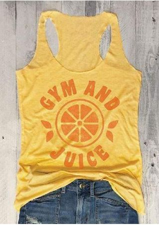 Gym And Juice Racerback Tank