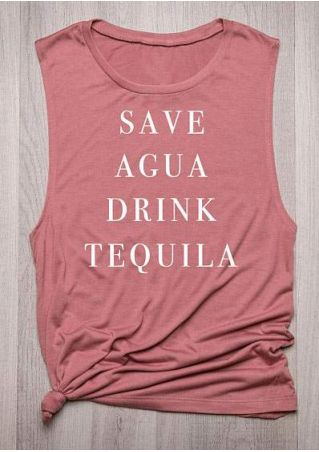 Save Agua Drink Tequila Tank