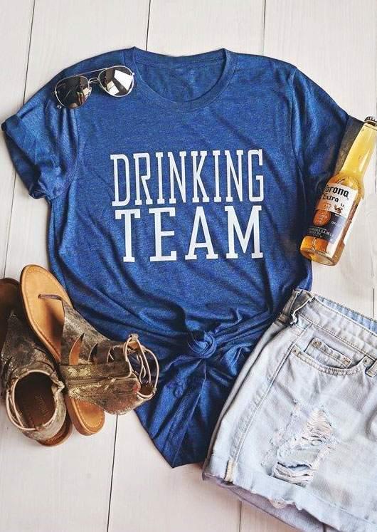 30003d8c5 Drinking Team Short Sleeve T-Shirt - Bellelily