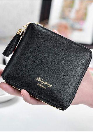 Fashion PU Tassel Splicing Mini Clutch Wallet