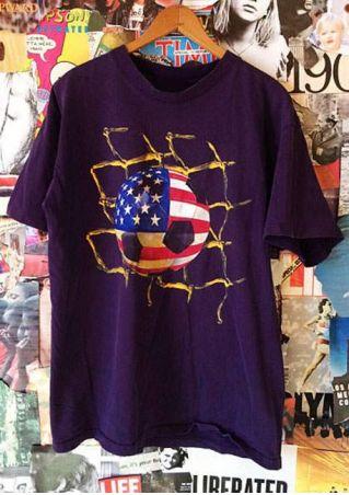 Football American Flag Short Sleeve T-Shirt