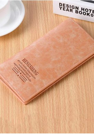 Nature And Elegance PU Clutch Wallet
