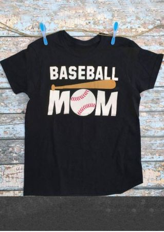 Baseball Mom Baseball Bat T-Shirt