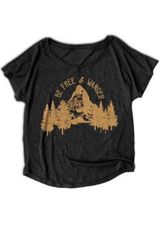 Tree Mountain Be Free & Wander T-Shirt