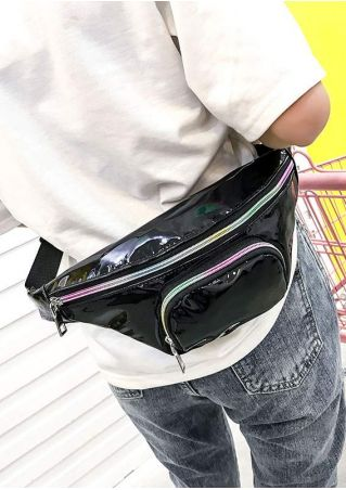 PU Adjustable Strap Holographic Fanny Pack