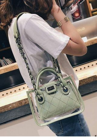 Plaid Chain Two-In-One Shoulder Handbag