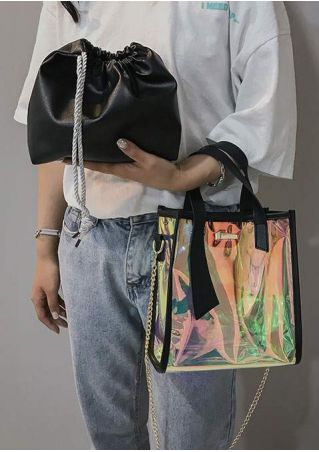 Transparent Two-In-One Shoulder Handbag