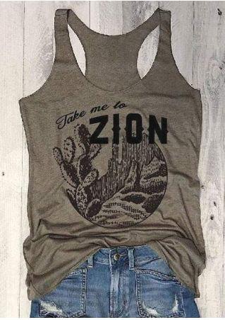 Take Me To Zion Cactus Tank