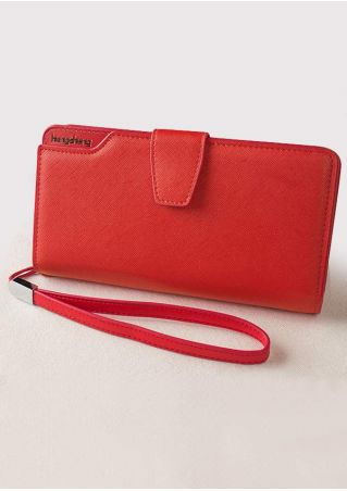 Letter Printed PU Clutch Wallet