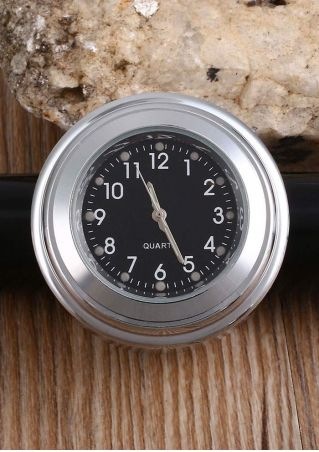 Round Motorcycle Handlebar Dial Clock/Thermometer