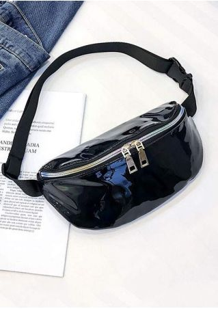 Solid PU Holographic Fanny Pack