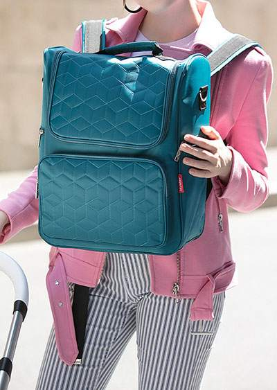 Argyle Waterproof Stroller Diaper Mama Backpack 402247