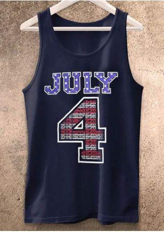 July 4 American Flag Tank