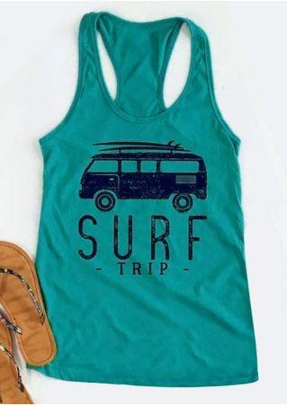 Surf Trip Car Racerback Tank