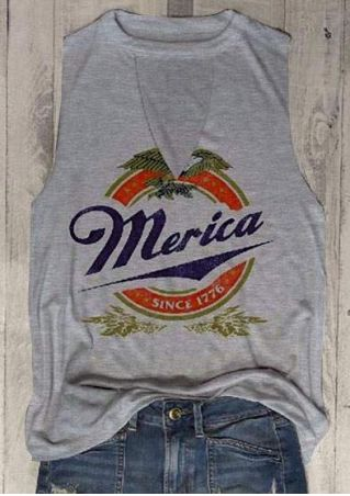 Merica Since 1776 Cut Out Tank