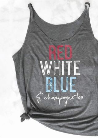 Red White Blue & Champagne Too Camisole