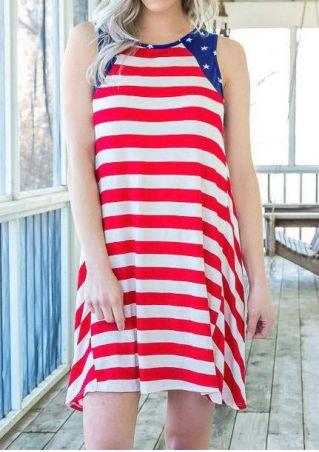 American Flag Sleeveless Mini Dress