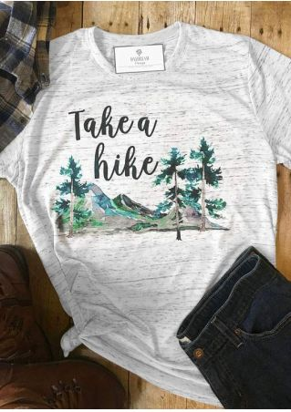 Take A Hike Tree Mountain T-Shirt