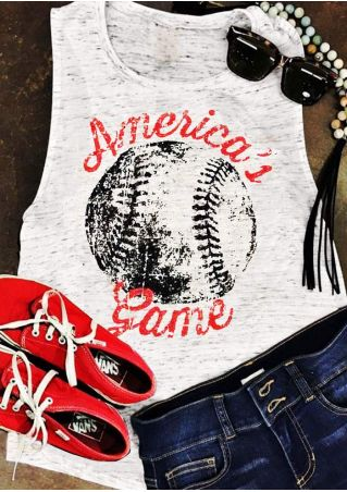 America's Baseball Game O-Neck Tank