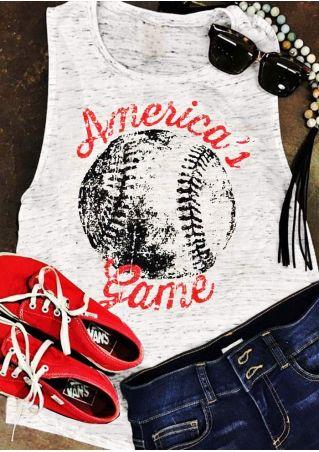 America's Baseball Game O-Neck Tank