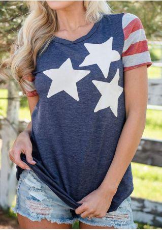Star Striped Short Sleeve T-Shirt