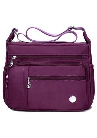 Solid Adjustable Strap Messenger Bag