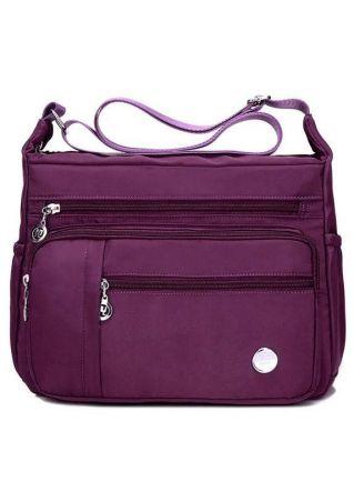 Solid Adjustable Strap Mama Crossbody Bag