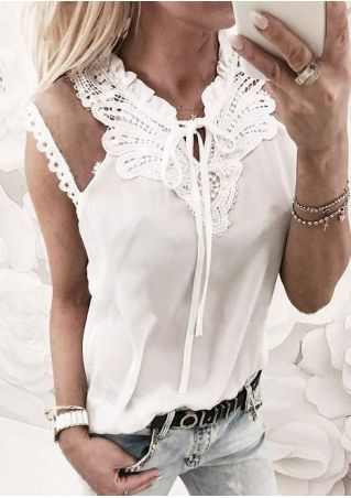 Solid Lace Mesh Splicing Blouse without Necklace