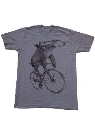 Hammerhead Shark On A Bike T-Shirt