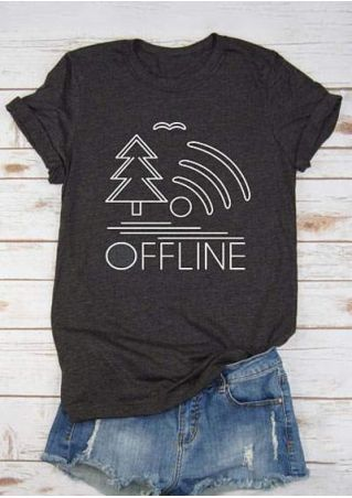 Offline Tree Lake Wifi T-Shirt