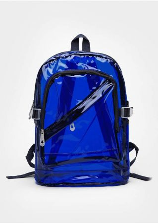 Solid Plastic Adjustable Strap Transparent Backpack