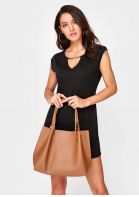 Solid Shoulder Bag and Crossbody Bag Set