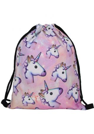 Unicorn Star Drawstring Backpack