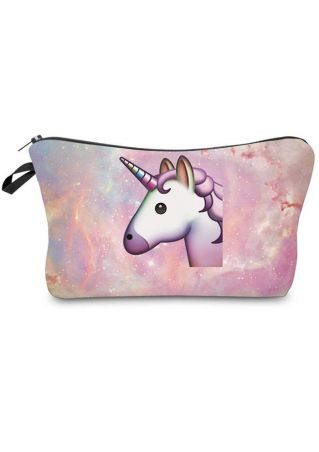 Unicorn Zipper Cosmetic Bag  Pencil Case