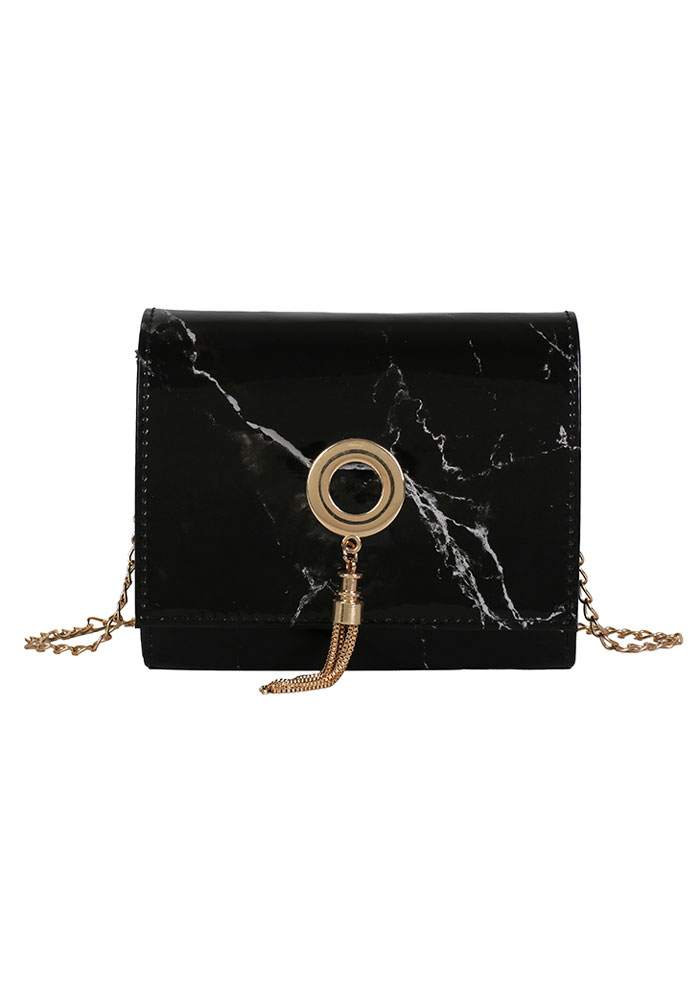 Marble Stone Printed Chain Crossbody Bag - Bellelily a12fd437d4f84