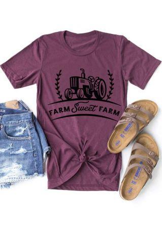 Farm Sweet Farm Tractor T-Shirt