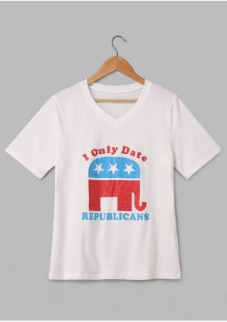 I Only Date Republicans Elephant T-Shirt