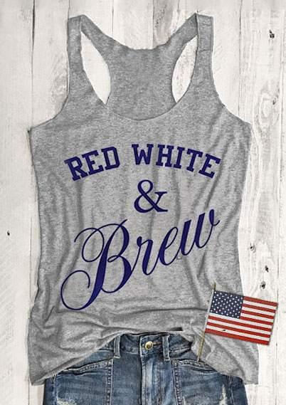 Red White & Brew Racerback Tank