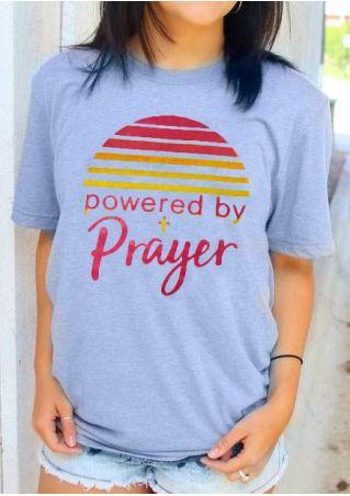 Powered By Prayer Short Sleeve T-Shirt