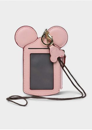 Happy Mouse Ear Shaped Card Holder Purse