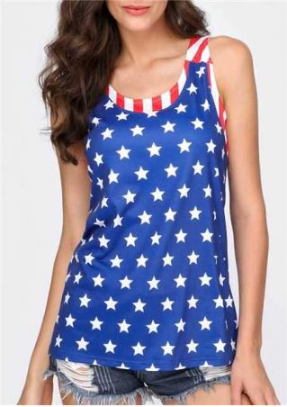 American Flag Fake Two Pieces Tank