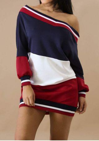 Striped One Shoulder Bodycon Dress