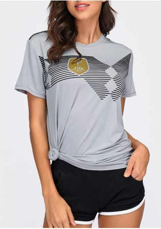 Striped Detail Germany National Football Team T-Shirt