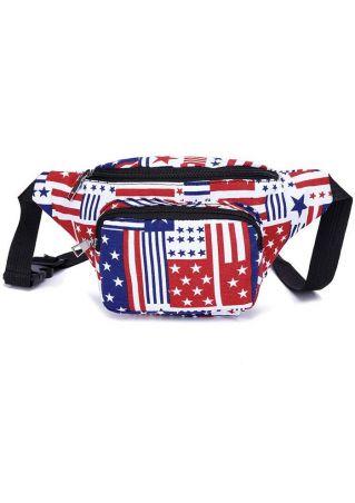 American Flag Adjustable Strap Fanny Pack