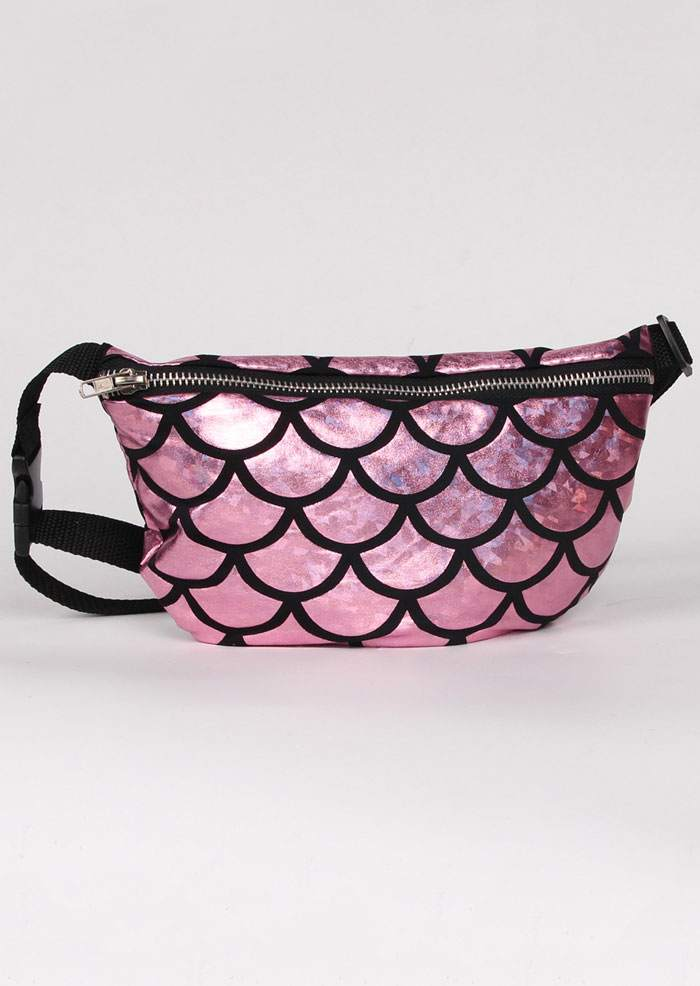 Fish Scale Adjustable Strap Fanny Pack