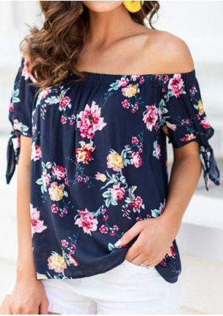 Floral Tie Off Shoulder Blouse