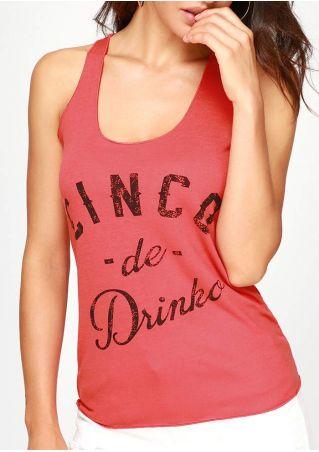 Cinco De Drinko Racerback Tank