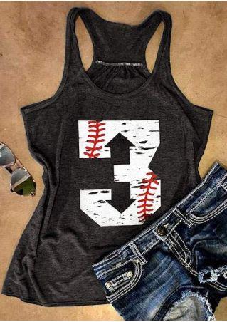3 Baseball O-Neck Tank